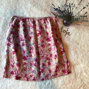 Ann Taylor Linen Floral Skirt